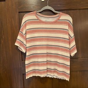 Striped Boxey Tee